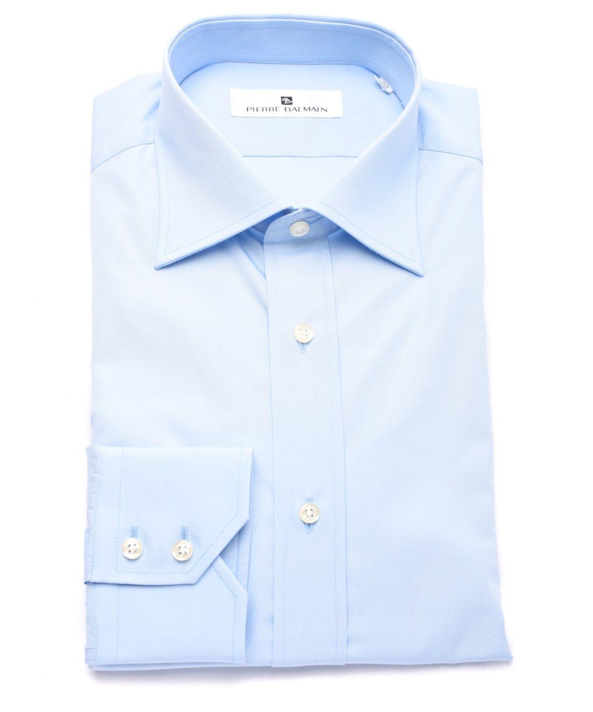 0ce212be PIERRE BALMAIN PIERRE BALMAIN MEN SLIM FIT COTTON DRESS SHIRT SOLID LIGHT  BLUE'. #pierrebalmain #cloth #dress shirts