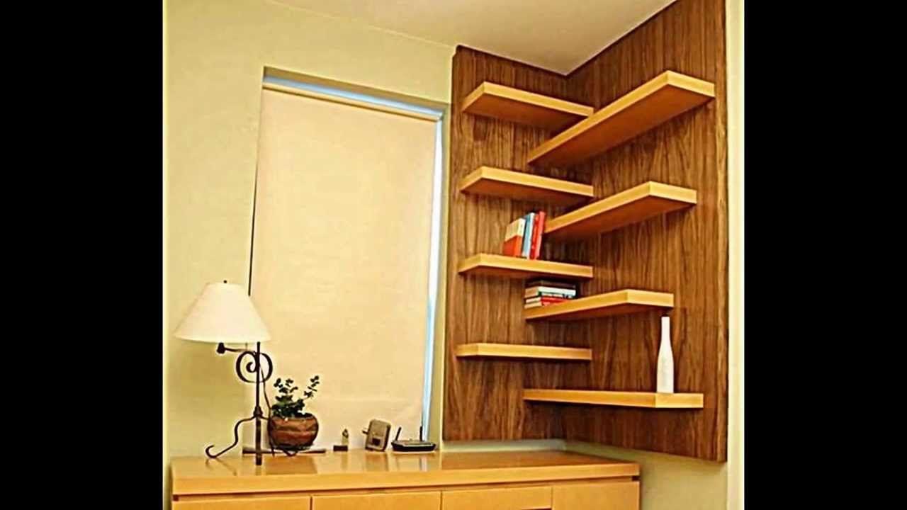 Designs für Ihr selbstgebautes Eckregal Raumsparende
