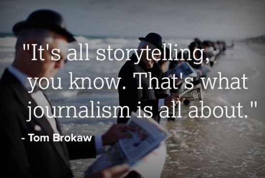 is journalism storytelling Today no one doubts that the future of news is digital and online the technological evolutions created challenges for 'traditional journalism', but also offer plenty of opportunities to cover news more creatively.
