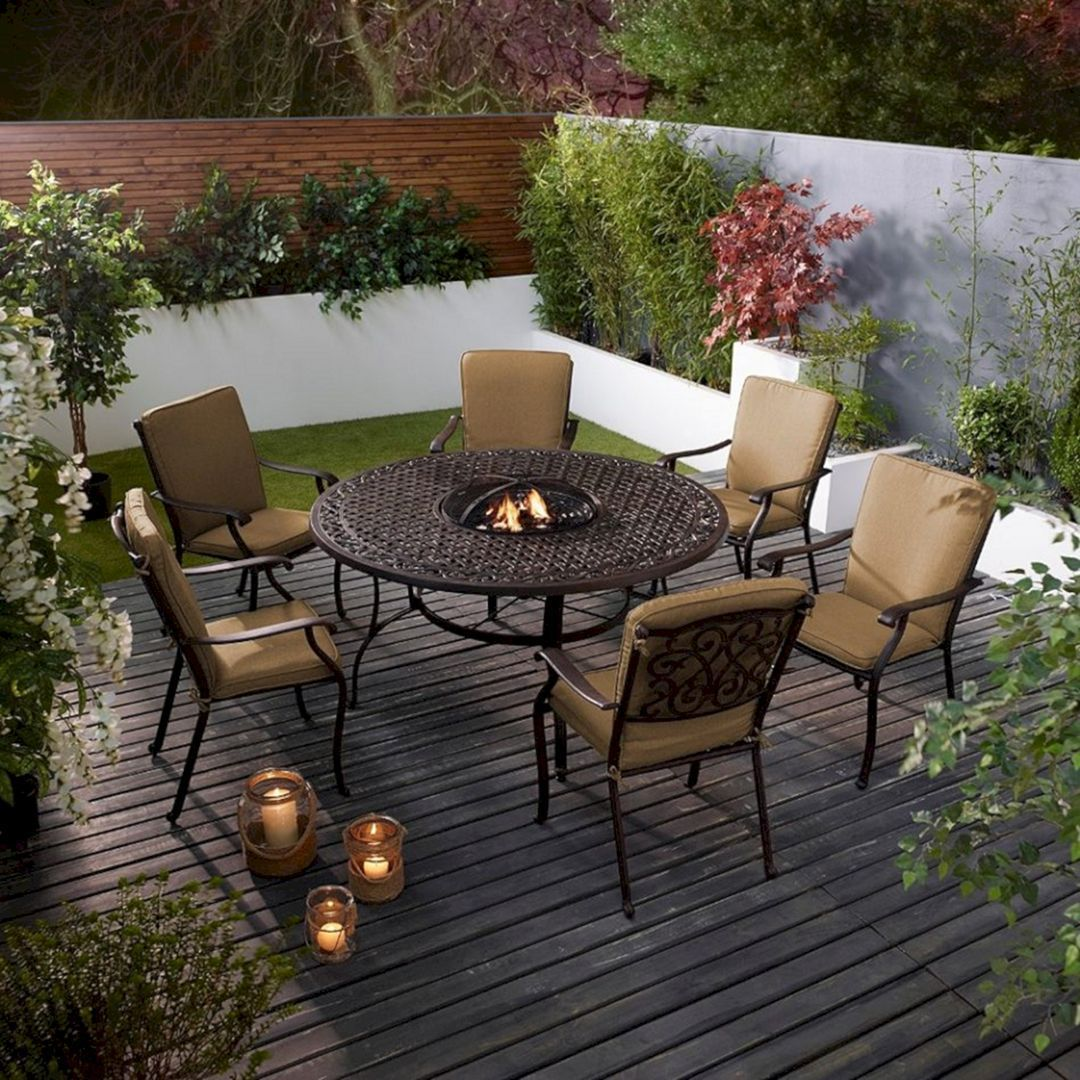 35+ Extraordinary Outdoor Living Room With Stunning ... on Living Room Fire Pit id=51931