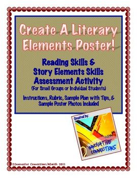Student Create A Literature Elements Poster Focusing On Story