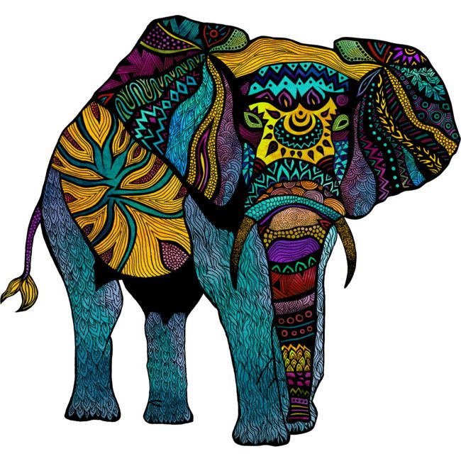 80f5fcbb8 Elephant of Namibia Color is a T Shirt designed by pomgraphicdesign to  illustrate your life and is available at Design By Humans