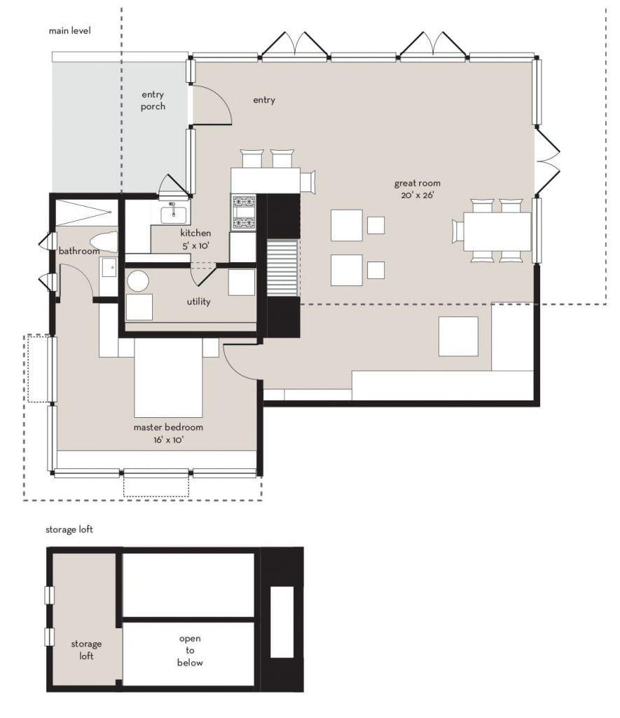 Frank Lloyd Wright Usonian Inspired House Plans   Mirror Lake ...