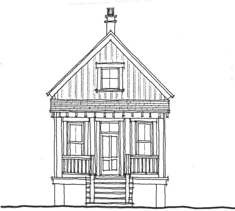Allison Ramsey Architects   Floorplan for Beach Bunkie - 288 ...