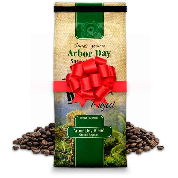 Arbor Day Specialty Coffee makes a great gift for the holidays — or any occasion.