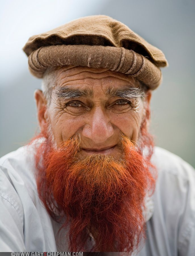 Elderly Pakistani Man With Henna Dyed Red Beard Admirable Style