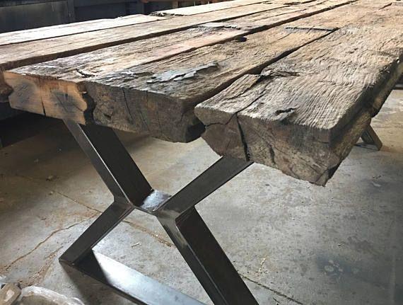 Tisch Holzgestell Eiche Nach Mass Holzpiloten Tischbeine Holz