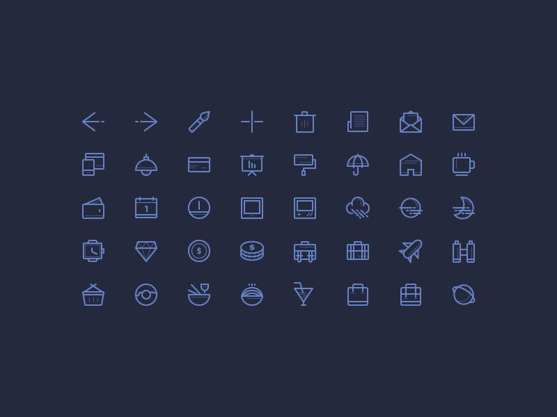 50 Free Outline Icons Vol.2, #AI, #Free, #Graphic #Design, #Icon, #Outline, #Resource, #Vector