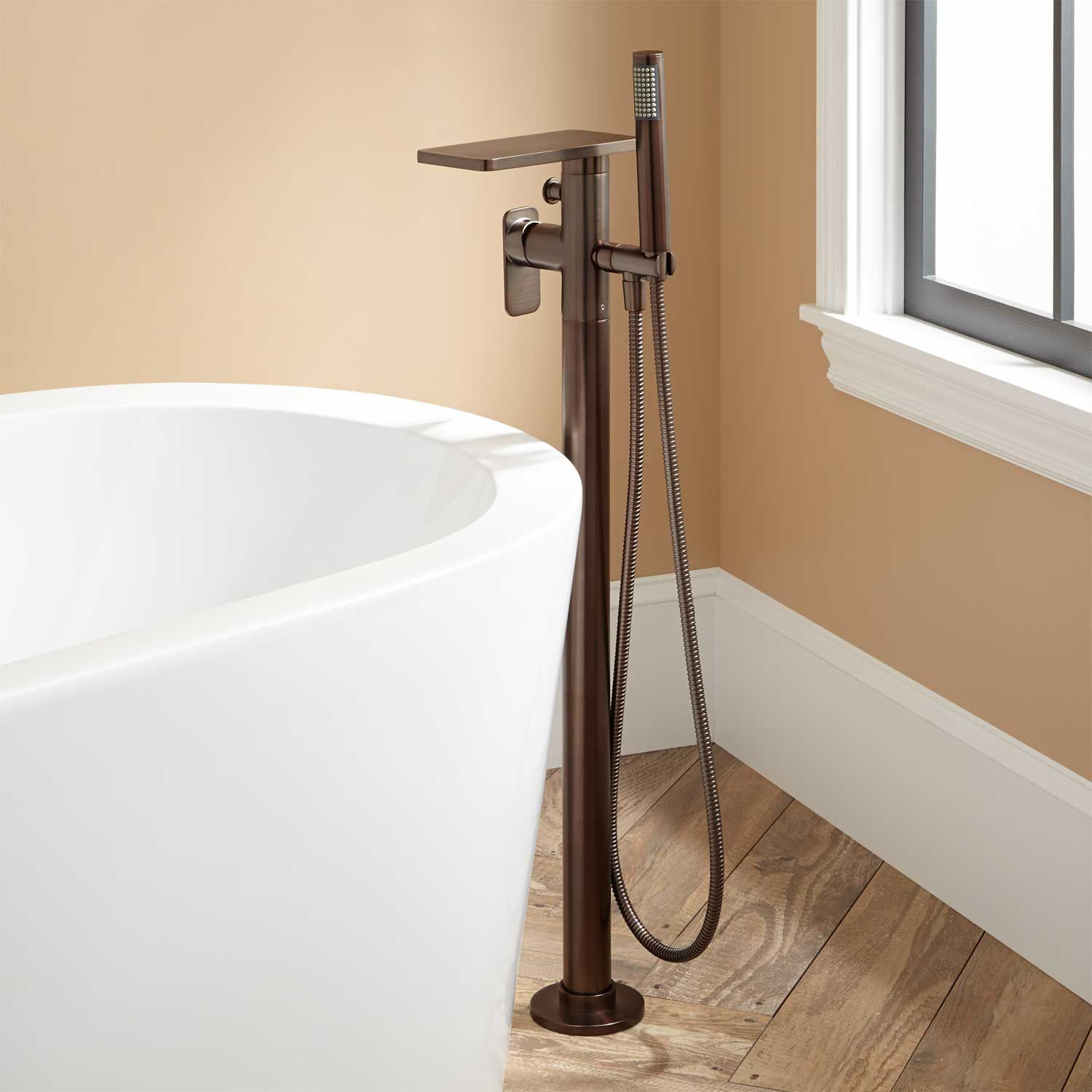 Ghani Freestanding Waterfall Tub Faucet Oil Rubbed Bronze