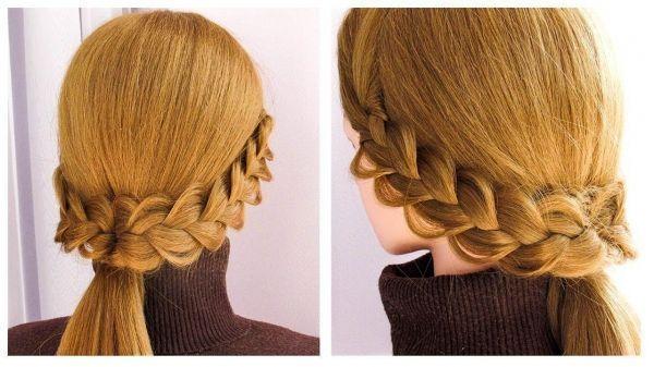 Mode Frisuren 2019 – Einfache Alltagsfrisur fr Schule / Beruf Frisur … – Trend
