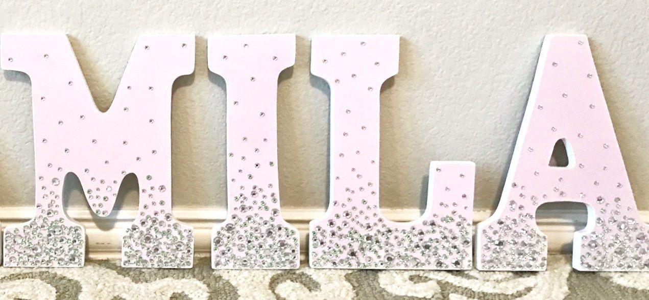 Nursery Letters Rhinestone Wall Hanging
