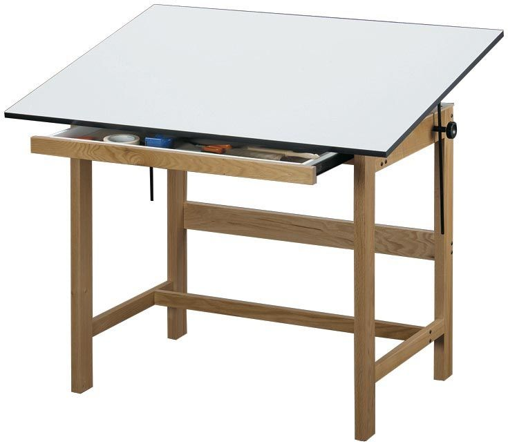 Save On Discount Alvin Titan Drafting Table With Drawer White