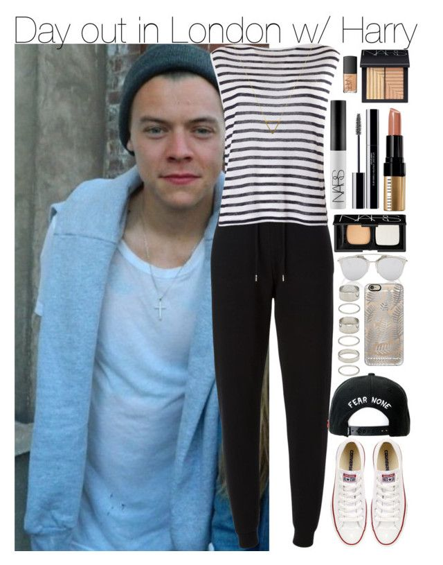 """""""Day out in London w/ Harry"""" by your-fashion-lover ❤ liked on Polyvore featuring Christian Dior, Kenzo, Converse, T By Alexander Wang, NARS Cosmetics, Bobbi Brown Cosmetics, shu uemura, Wanderlust + Co, Casetify and Forever 21"""