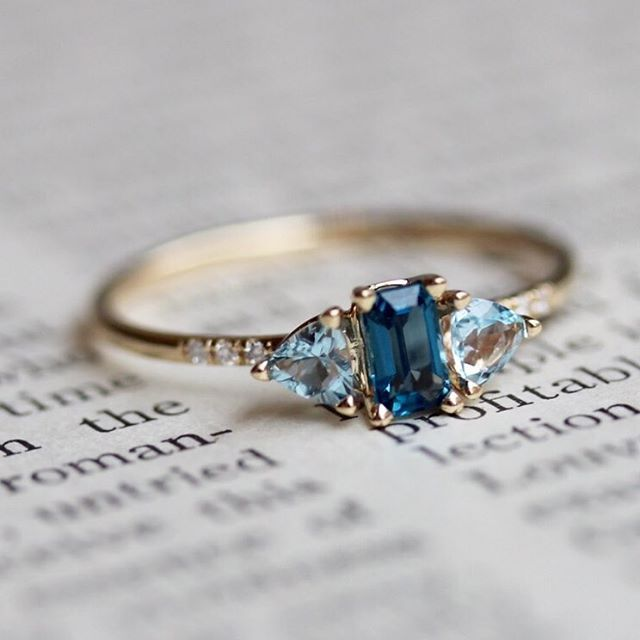 Promise ring- blue topaz December birthstone | Bling bling ...