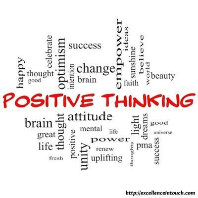 Positive Thinking is… http://excellenceintouch.com
