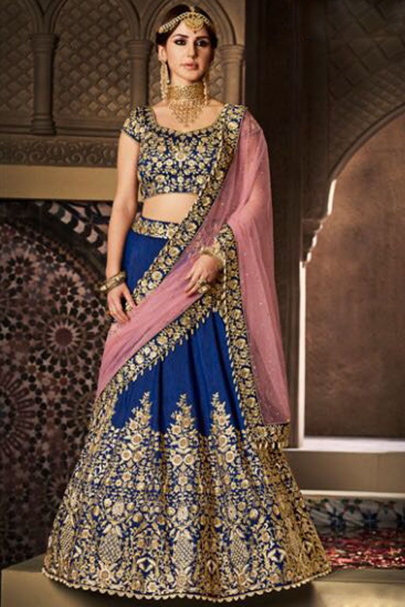Navy Blue Attractive Color Traditional heavy Embroidery Work