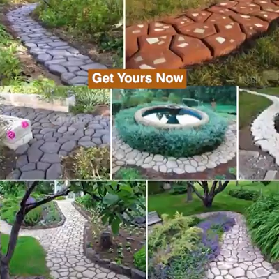 Let your garden path have a beautiful pattern so that the road is no longer rigid!  Place the path mold on the ground, fill it with concrete, smooth surface, remove mold and you're done, no special skills or tools needed, everyone can create your own style garden path and be your gardening designer.  STURDY AND REUSABLE - It can be used repeatedly or multiple times at the same time until all the roads have been completed. SAVE TIME & CONVENIENT- It is possible to make roads of different colors,