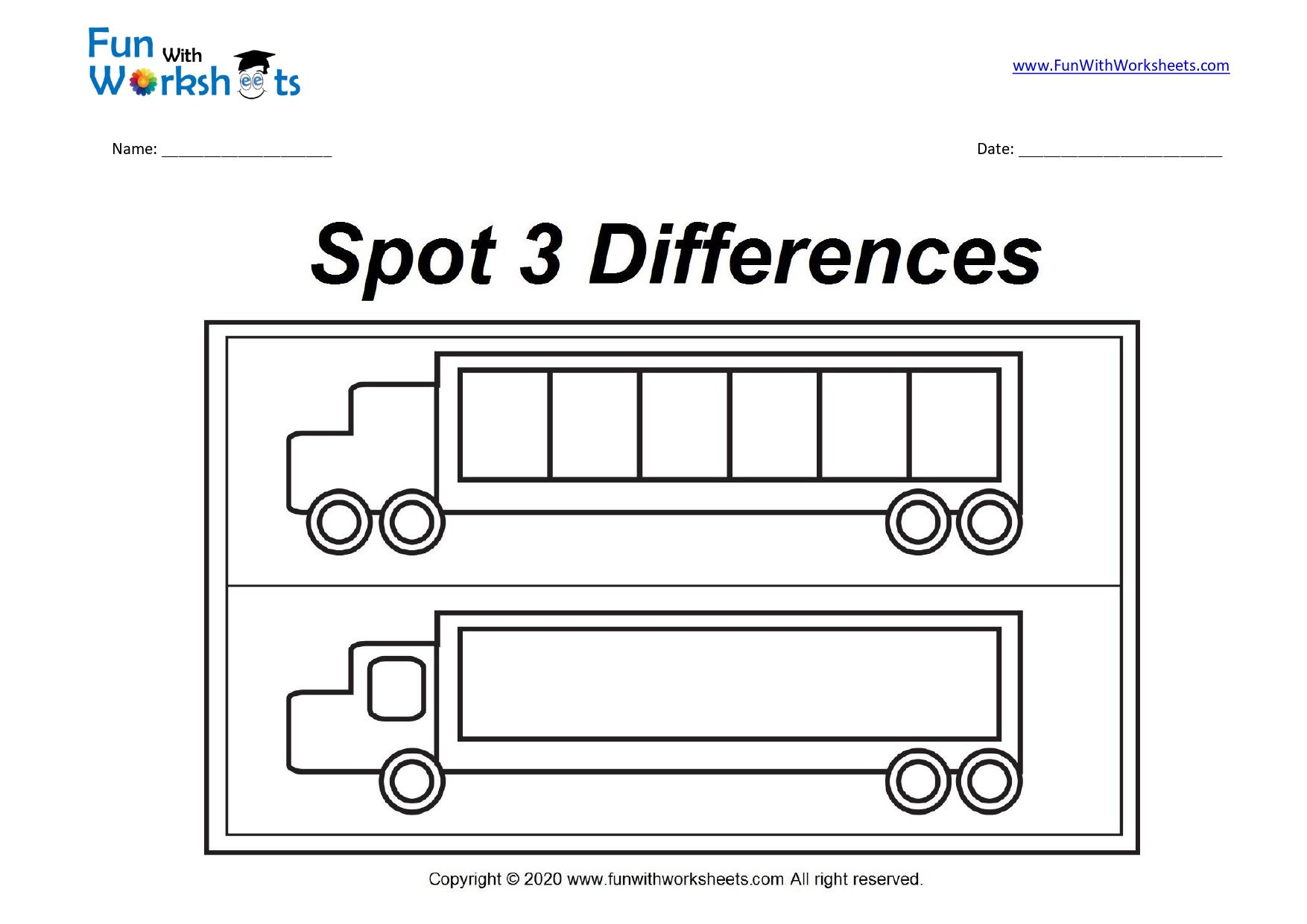 Spot The Difference Truck In