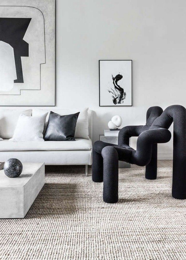 31 Black And White Modern Home Decor Ideas images