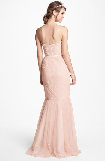 Monique Lhuillier Bridesmaids Tulle Trumpet Dress Nordstrom