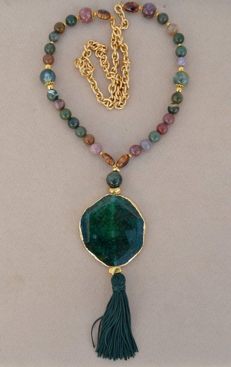6dd70d3fd141 Collar de piedras naturales   AGATA INDIA de vithrashop en Etsy ...