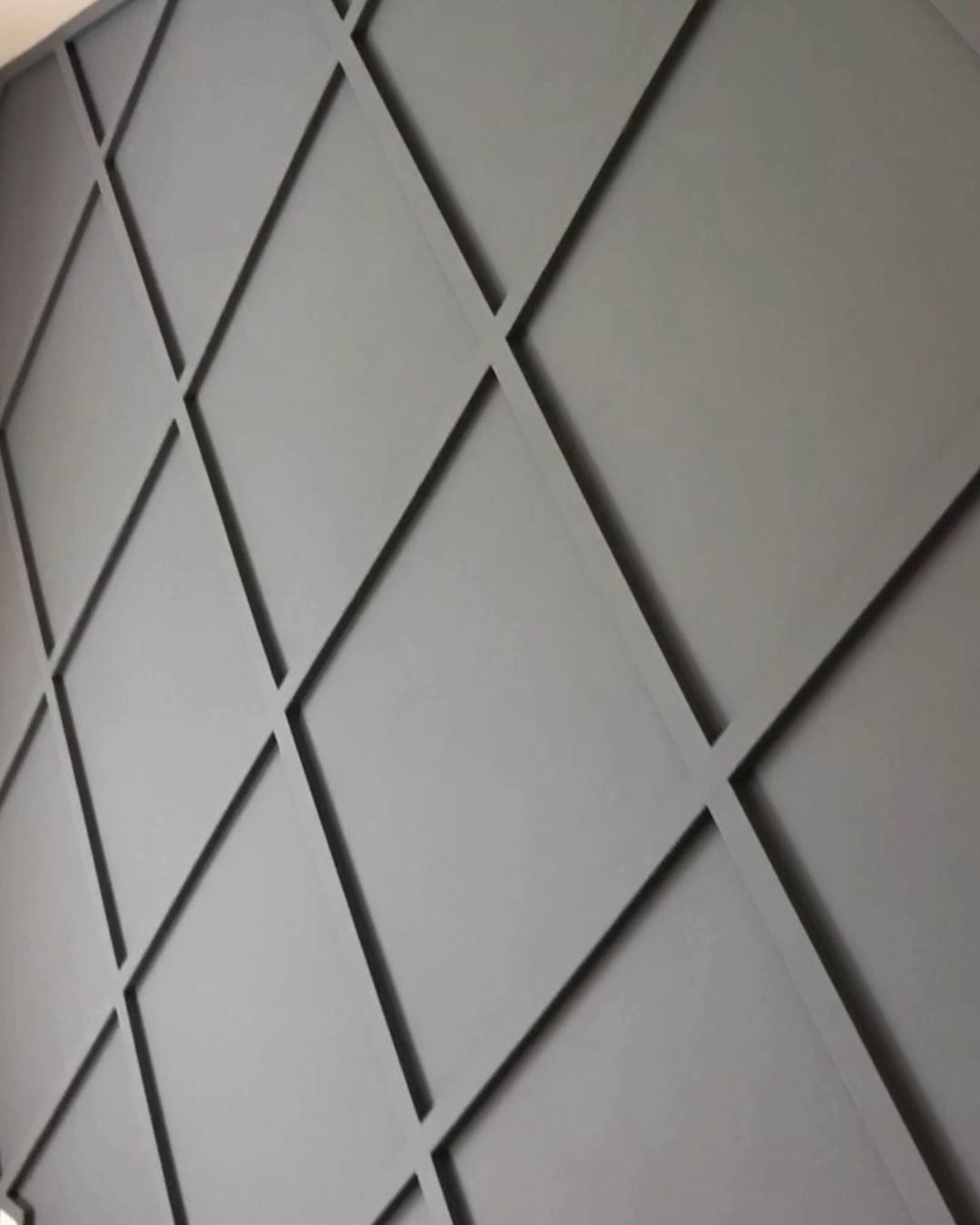 Diamond accent wall