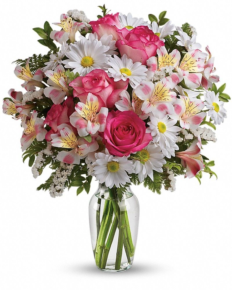 What A Treat Bouquet With Roses Floral Arrangements Pinterest