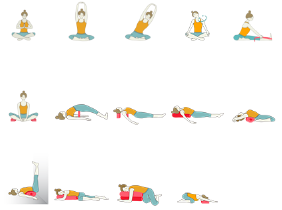 restorative yoga sequence with minimal props  yoga