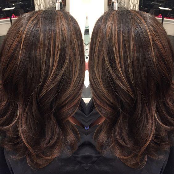 Caramel Highlights On Dark Brown Hair All Hair Pinterest Dark