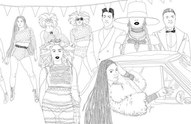 These Awesome Illustrations Of Beyonce S Lemonade Will Make Anyone Want To Color Coloring Books Coloring Pages Coloring Pages Inspirational