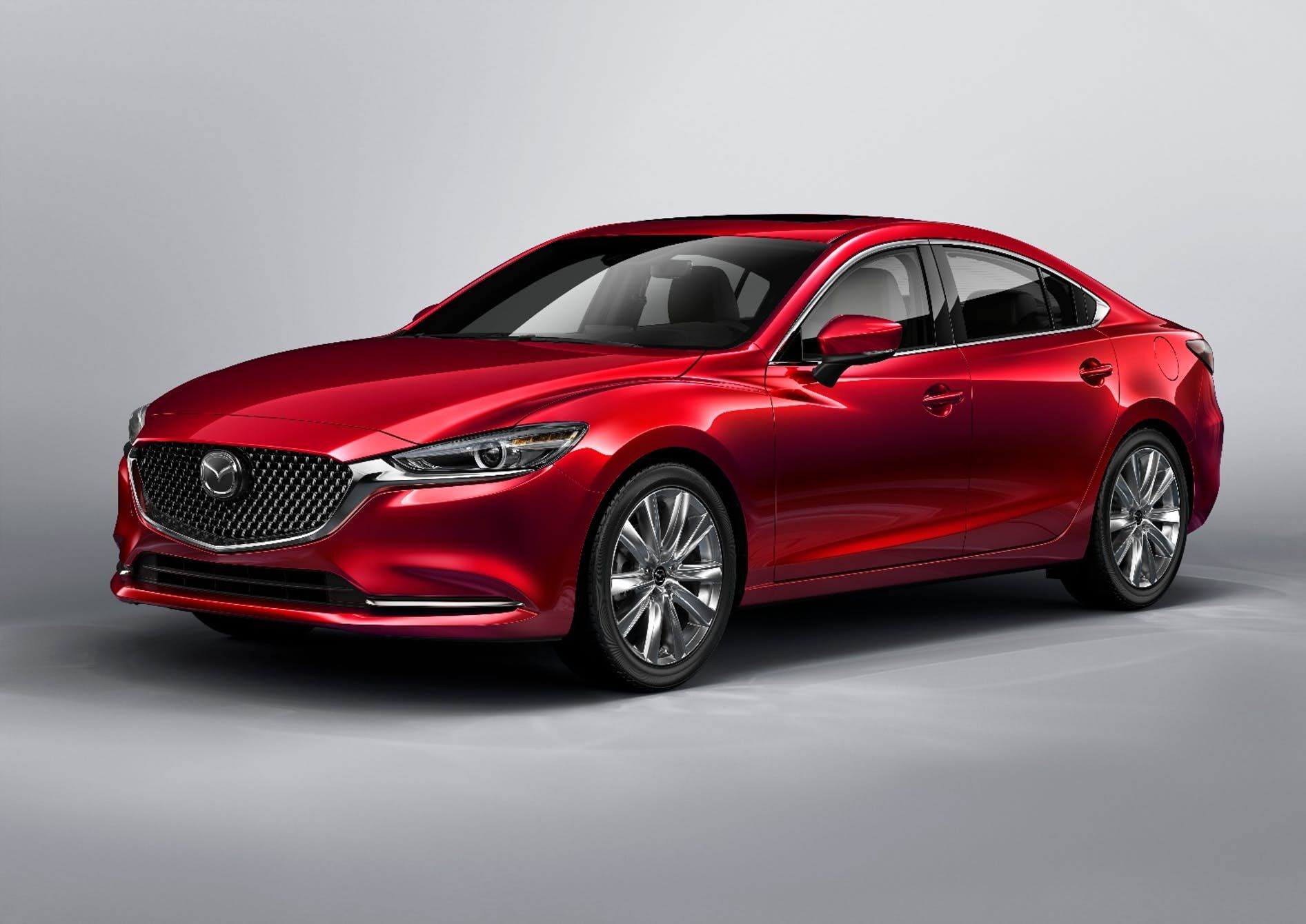 The New Mazda 6 Ditches The Horizontal Slat Grille For A Much More Macho Wire Mesh Grille Mazda Cars Mazda Mazda 6