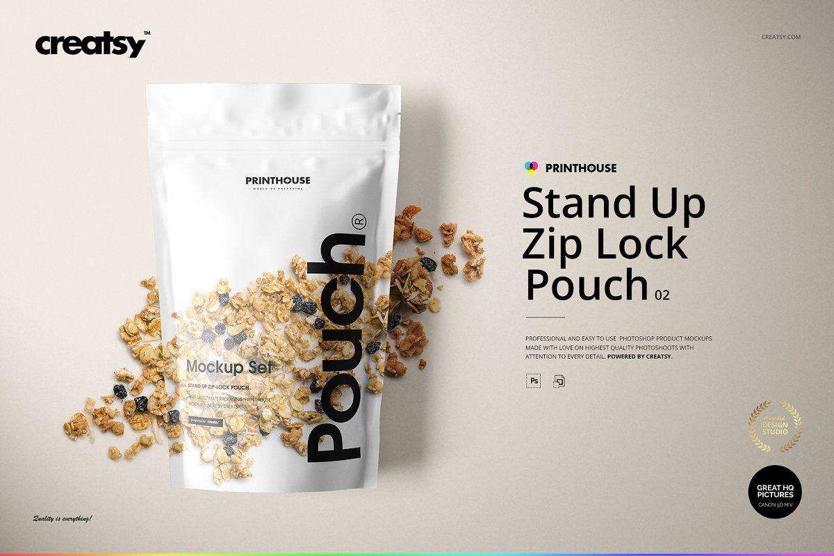 Download Stand Up Pouch 2 Mockup Set Mockup Bag Mockup Stand Up