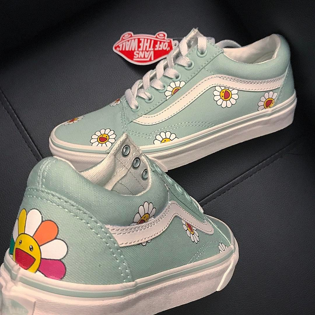 Murakami Flowers Custom VANS Old SKool Custom vans shoes