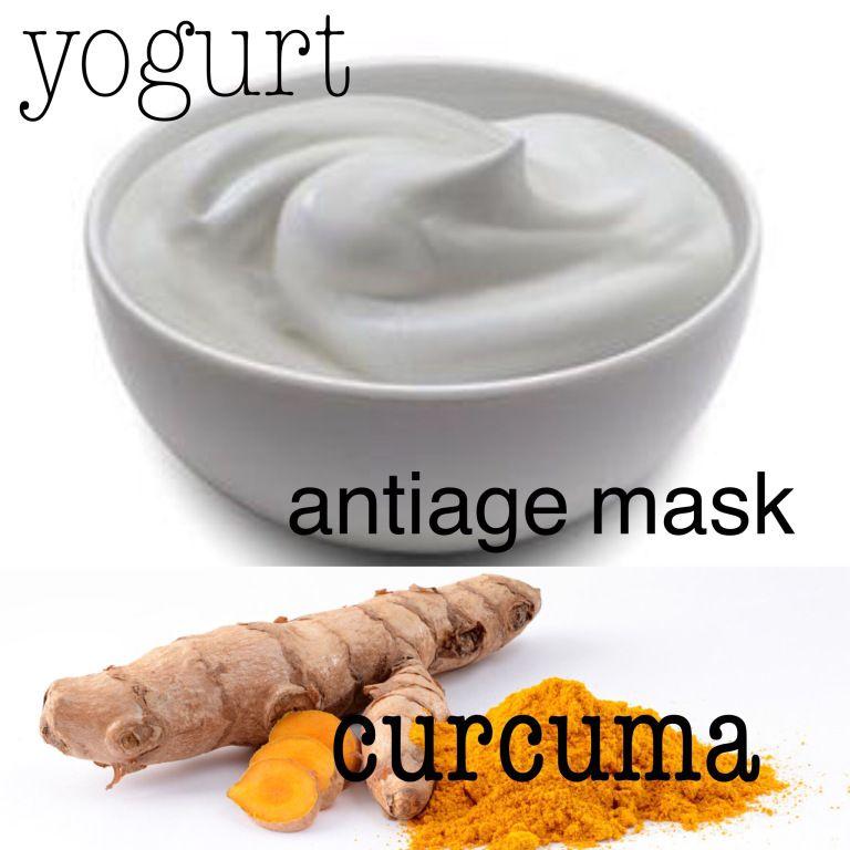 Maschera viso antiage fai da te yogurt e curcuma - Anti..