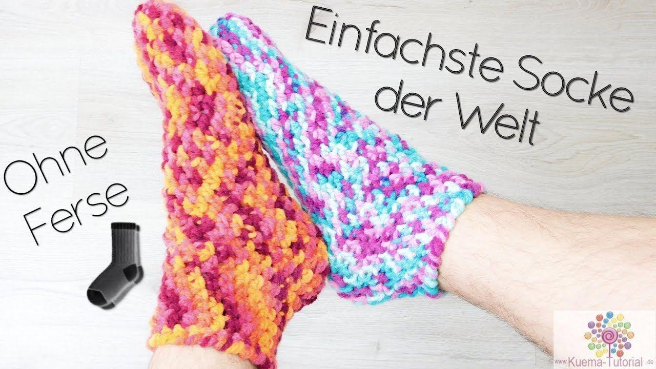 Easy Peasy Socken Häkeln Ohne Ferse Schnell Einfach Für