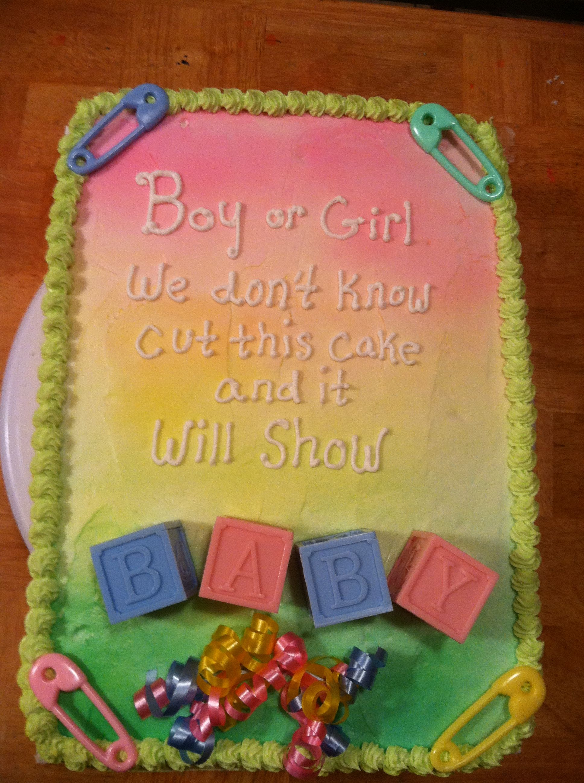 Gender reveal cake Cuppy cakes Pinterest