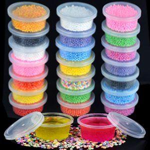 Amazoncom 30 Pack Slime Storage Containers Foam Ball Storage