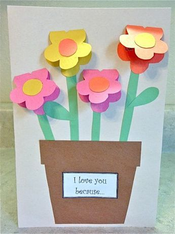 Mother S Day Construction Paper Vase Sunday School Paper Crafts