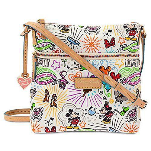 Disney Parks Dooney /& Bourke Sketch Nylon Zip Satchel Purse New