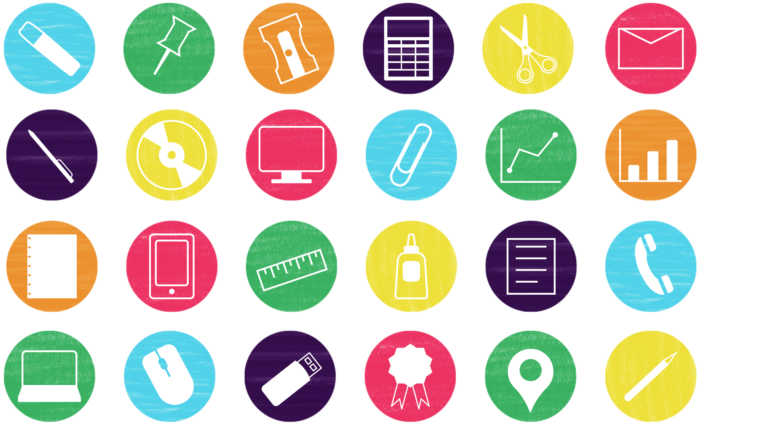 Colorful Office Icons These great, free icons are a must