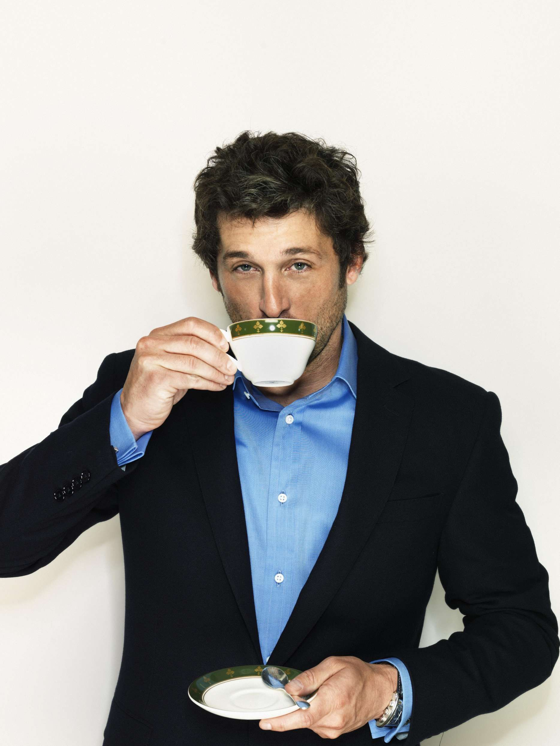 Coffee Time With Patrick Dempsey Patrick Dempsey Drinking