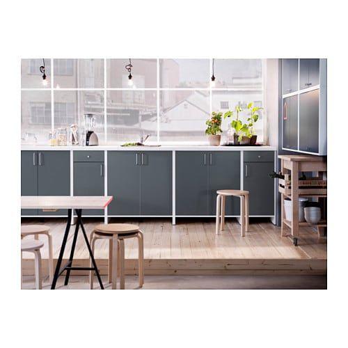 IKEA FYNDIG Unterschrank für Backofen grau Küchenschrank ...
