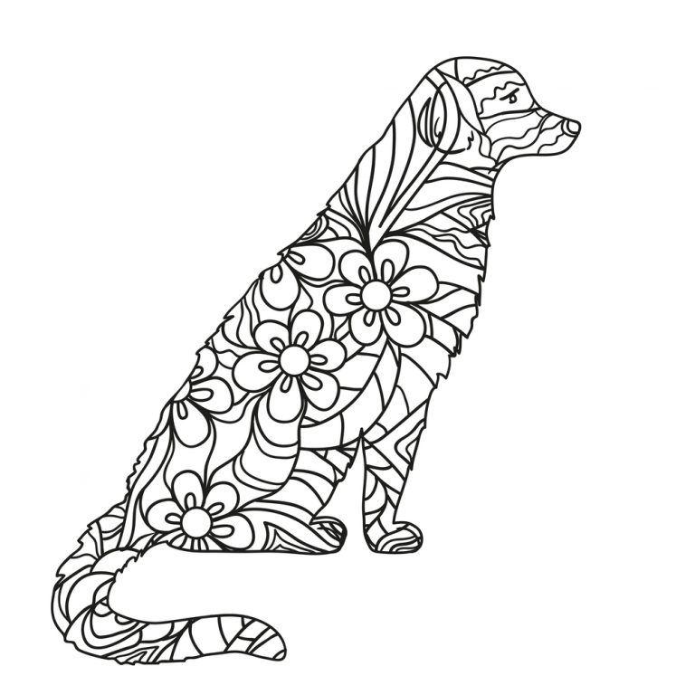 Mandalas De Perros Para Colorear Mandalas Animales Dibujos