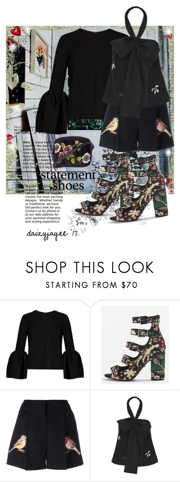 """""""statement shoes"""" by daizyjayne ❤ liked on Polyvore featuring Roksanda, Topshop, STELLA McCARTNEY, Jonathan Saunders, contestentry and statementshoes"""
