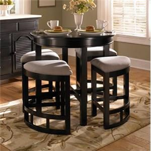 Mirren Pointe Counter Height Round Table With Wedge Stools By Broyhill Furniture