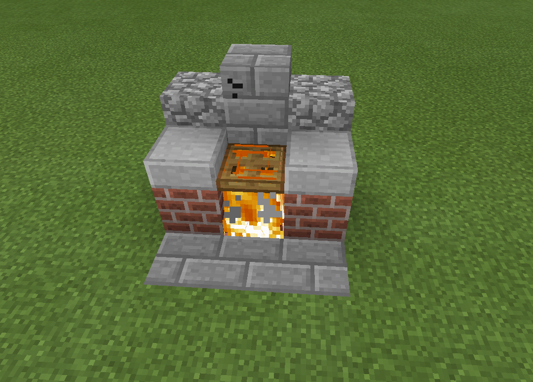 Minecraft Fire Barb B Q Grill Outside Furniture Minecraft Creations Minecraft Minecraft Accessories