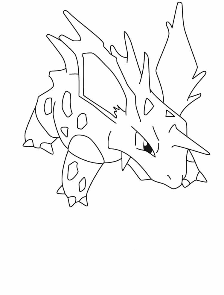 Pokemon Nidorino Coloring Pages