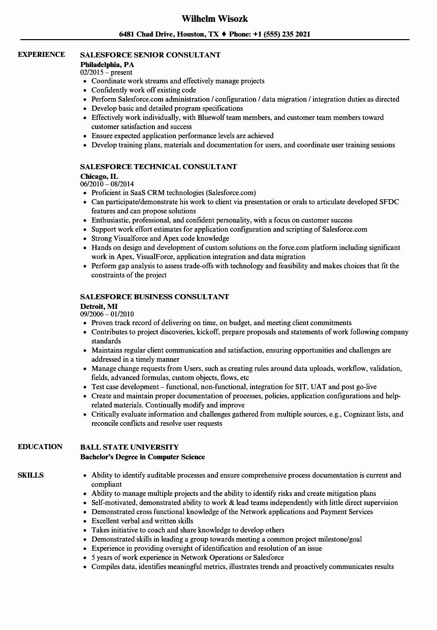 Awesome Salesforce Developer Resume Resume Ideas in 2020