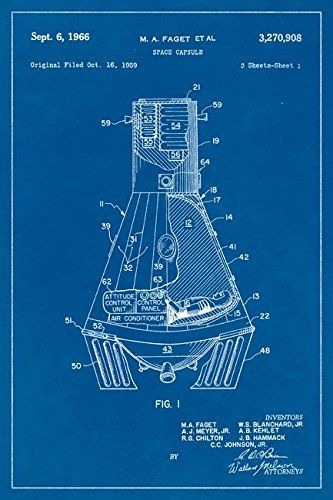 Nasa mercury space capsule blueprint art poster keep calm my nasa mercury space capsule blueprint art poster malvernweather Images