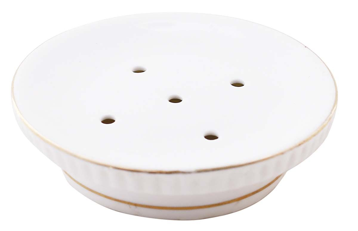 at unbeatable price from wholesale distributors ceramic white round bath soap dishes with holesunique bathroom accessories distributors from india - Bathroom Accessories Distributors